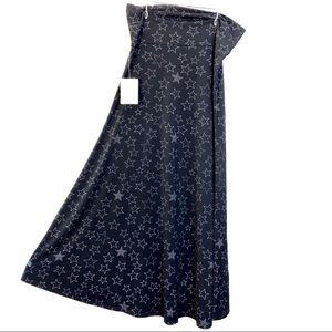 LuLaRoe Black & White Maxi Skirt—Size XL—NWT